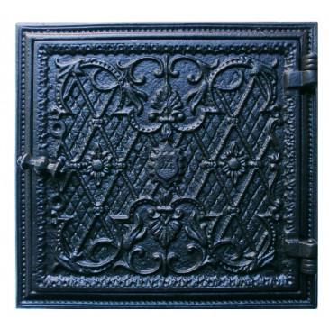 Dvířka komínová KACHLE - T - černá