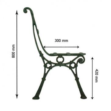 Litinová lavička - LAURA - nr.3 - cena za 2 ks-pár