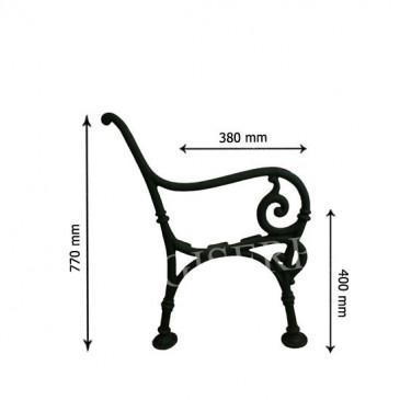 Litinová lavička - PRAHA - nr.1 - 2 ks