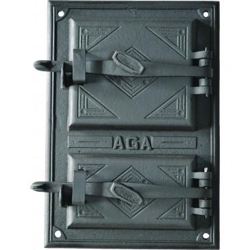 Litinový kamnový štít  - DUET - černý