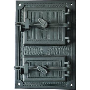 Litinový kamnový štít hermetický - SIMON - černý