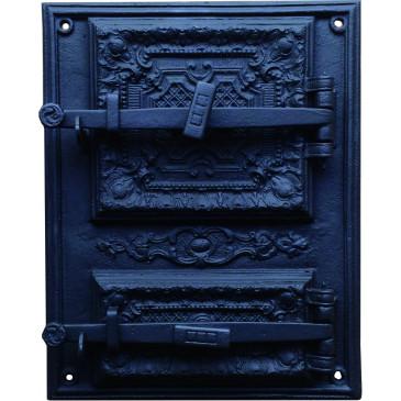 Litinový kamnový štít hermetický - Livia-černý