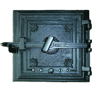 Litinová dvířka hermetická - ohnišťová ARTUŠ -černá