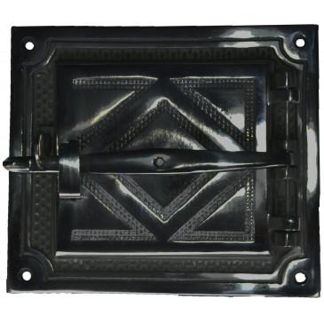 Litinová dvířka hermetická DELUXE -HORNÍ - černá