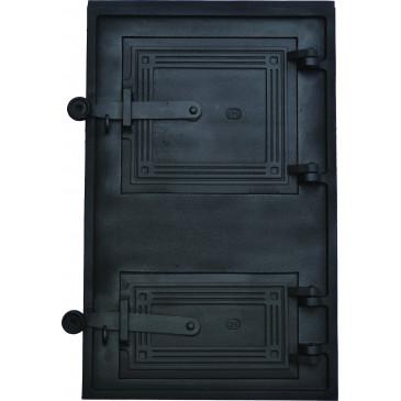 Litinová dvířka kuchyňská - HLADKÁ 4 - KO - černá