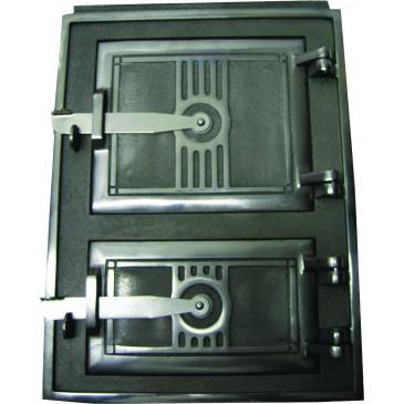 Litinová dvířka kuchyňská - 3T - střední - nikl