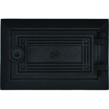 Dvířka popelníková - KO - 6x3 -malá - -černá