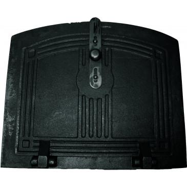Pecová dvířka trouby - KLASIK-černý