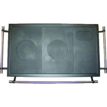 Rám ocelový - černý s litinovou plotnou - 950 x 550