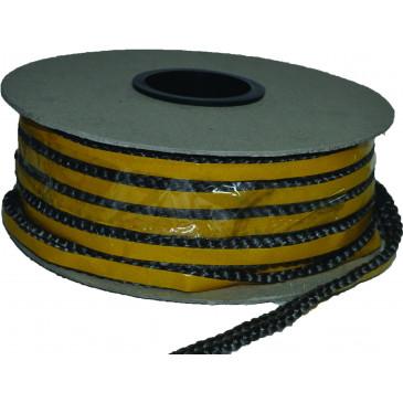 Sklokeramická šňůra plochá-samolepící  8x2 mm - cena za 1 m