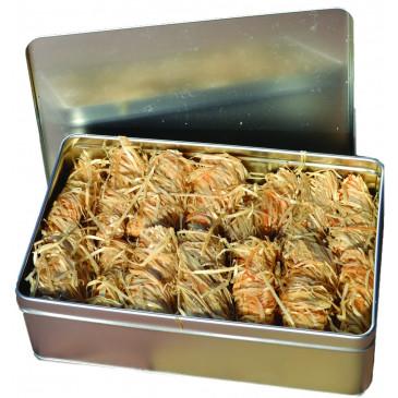 Podpalovač ekologický - plechová krabička - 50 ks