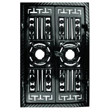 Litinová dvířka krbová  - nr.7-černá -  360 x 550
