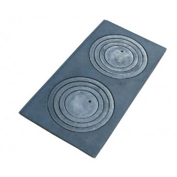 Litinová plotna kamnová široká se 2, otvory 650x380