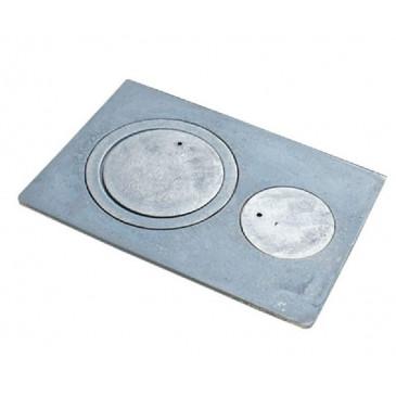 Litinová kamnová plotna. COMFORT405x270 - nedělená 2 otvory