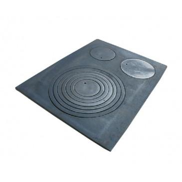 Litinová plotna kamnová široká se 3, otvory 630x480