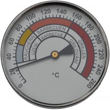 Teploměr do udírny-0-260°-pr.100mm-stonek 250mm