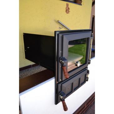 Trouba +vymetací otvor + rámeček-CHROM