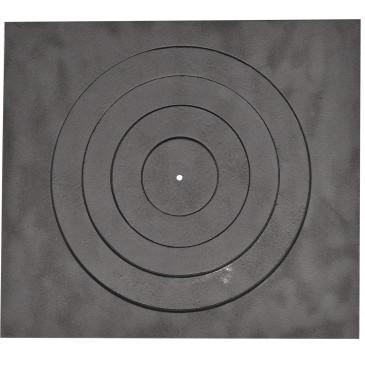 Litinová plotna kamnová široká s 1.otvorem 460 x 410 mm - otvor 330 mm