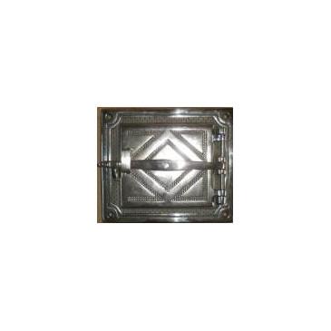 Litinová dvířka hermetická DELUXE - HORNÍ -nikl