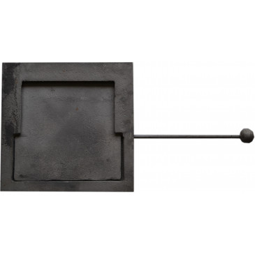 Kouřová klapka otočná - čtverec
