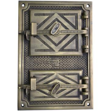 Litinový kamnový štít hermetický -LUX - mosaz